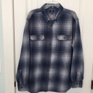 George 100% Cotton Flannel Shirt in Slate Blue